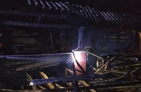 У Турці на Львівщині рятувальники гасили господарчу будівлю