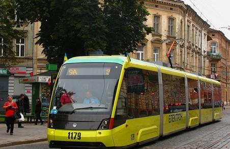 У Львові завтра трамваї маршрутів № 3 і 9 змінять свої маршрути