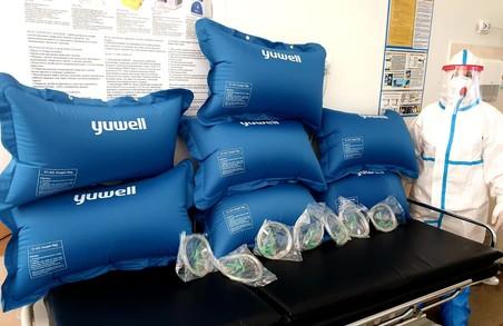 Львівська обласна інфекційна клінічна лікарня отримала нові кисневі подушки