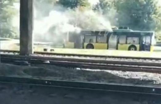 У Львові задимівся низькопідлоговий тролейбус ЛАЗ