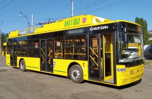 Тролейбуси, виготовлені у Луцьку, почали курсувати у двох містах Полтавщини