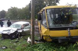 На Львівщині сьогодні зранку в ДТП потрапив рейсовий автобус