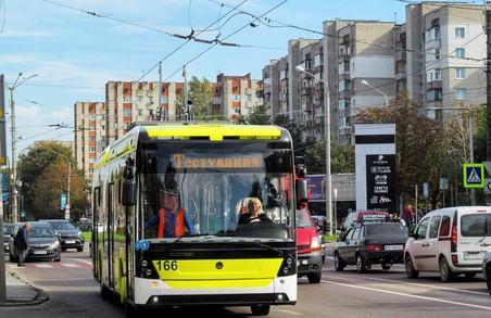 У Львові тестують нові тролейбуси «Електрон» із останньої партії