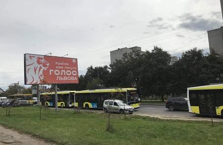 У Львові на вулиці Гетьмана Мазепи зупинилися тролейбуси