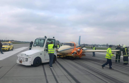 У Львові учора отримав пошкодження приватний літак «РіреrРА-30»