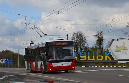 У Луцьку випробовують два нових тролейбуси «Богдан», які купило «Луцьке підприємство електротранспорту»