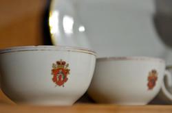 Посуд, з родинним гербом, з якого вживав їжу Шептицький