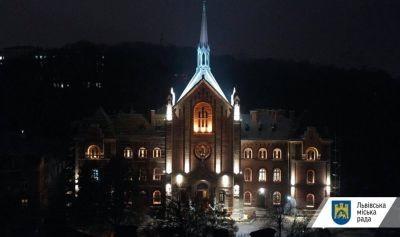У Львові підсвітили православний храм