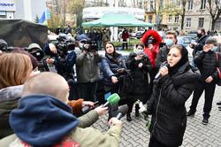Софія Федина перед засіданням суду