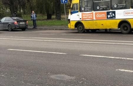У Львові рейсовий автобус потрапив у ДТП