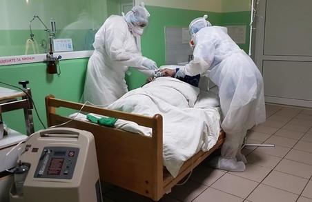На Львівщині «ковідними» пацієнтами зайнято 56,3% відведених для них місць