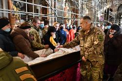 У Львові попрощались із загиблим 21-річним десантником Іваном Горошком