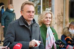 Андрій Садовий з дружиною