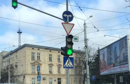 У Львові відновлять «зелену стрілку» на світлофорі на розі Кульпарківської і Городоцької
