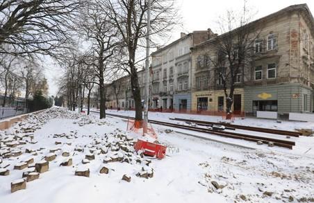 Під час реконструкції вулиці Степана Бандери у Львові відновлять живлення трамвайної лінії