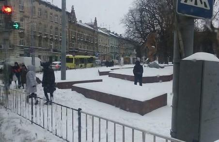 На вулиці Городоцькій у Львові призупинився рух транспорту