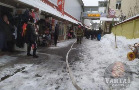 На Привокзальному ринку у Львові сьогодні сталося займання