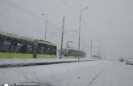 У Львові призупинився рух трамваїв на Сихів