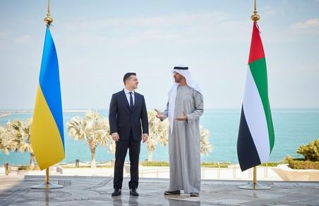 Зеленський у ОАЕ домовився про покращення співпраці в сферах туризму та інвестицій