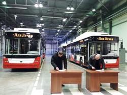 Луцьк уже отримав 10 нових тролейбусів, які купили за кошти кредиту Європейського інвестбанку