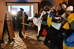 Студенти відтворили події Революції Гідності (ФОТО)