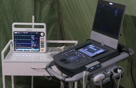 Мобільний «ковідний» госпіталь уже приймає перших пацієнтів