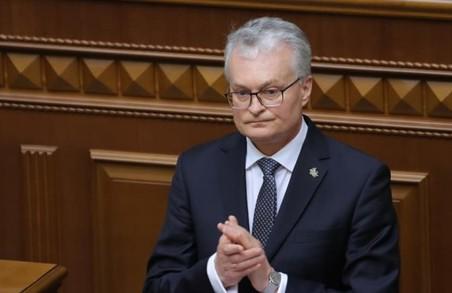 Президент Литви виступив у Верховній Раді українською мовою