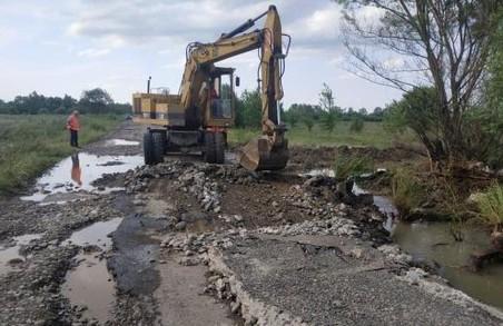 На Львівщині 4 населених пункти опинилися в ізоляції через зруйновану дорогу