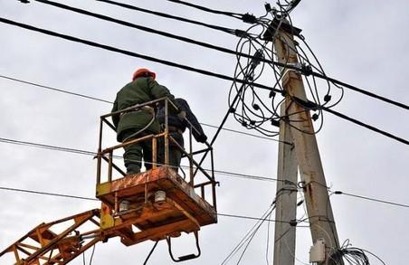 Майже 90 населених пунктів Львівщини залишилися без світла внаслідок негоди